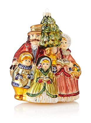 Krebs Glas Lauscha Victorian Caroler Family with Tree