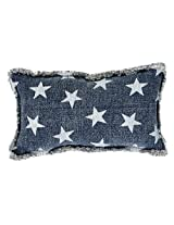 Multi Star Navy Pillow 7x13