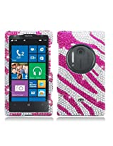 AIMO Dazzling Diamond Bling Case for Nokia Lumia 1020 [] (Zebra - Pink)