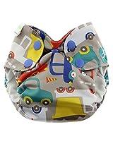 Blueberry Simplex All In One Diaper, Traffic, Newborn