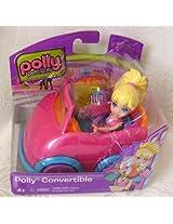 Mattel Polly Pocket Polly Convertible Doll and Car Pink