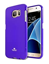 Galaxy S7 Case, [Special Promo Price] Goospery® Pearl Jelly Case [Pearl Glitter] Premium TPU Case Cover [Anti-Yellowing / Discoloring Finish] for Samsung Galaxy S7 - Purple