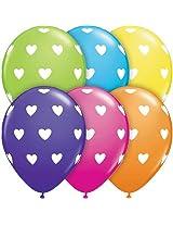 Pioneer Balloon Company 50 Count Big Hearts Latex Tropical Balloon, 11