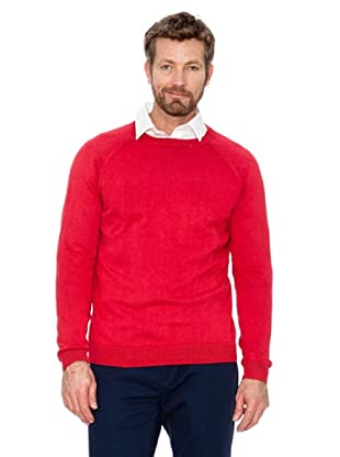 Cortefiel Pullover Basic (Rot)