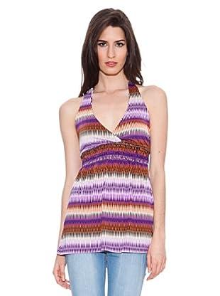 Santa Bárbara Camiseta Rayas (Púrpura)