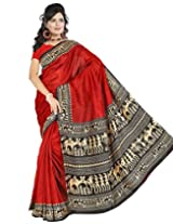 Somya Silk Saree (068Dno134 _Red)