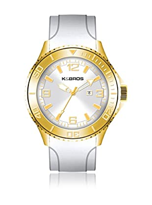 K&BROS Reloj 9563-4 Blanco