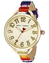 Betsey Johnson Women's BJ00067-32 Analog Display Quartz Multi-Color Watch