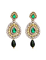 Hi LOOK Gold Toned Oval Drop Earring for women