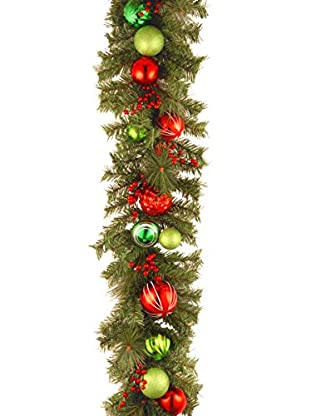 National Tree Company 6' Decorative Collection Red & Green Garland