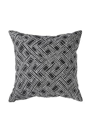 Bandhini Homewear Design Shoowa Throw Pillow, Grey/Black