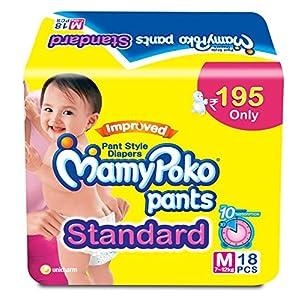 Mamy Poko Pants Standard Medium Size Diapers (18 Count)