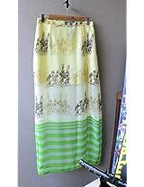 Madhurima Bhattacharjee Yellow Printed Maxi Skirt