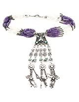 925-Silver Amethyst Opera Necklace With Pendant For Women 11625