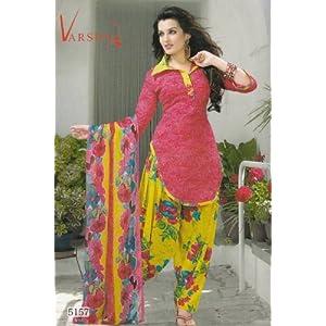 Dress materials - Crepe dress material elegant designer unstitched salwar suit d.no 5157