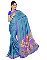 Chinco Saree With Blouse Piece (P1002-A_Blue)