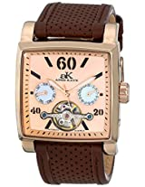 Adee Kaye Adee Kaye Unisex Ak9043-Mrg Wall Street Analog Display Automatic Self Wind Brown Watch - Ak9043-Mrg