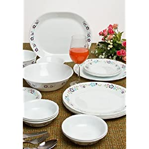 Corelle 21 Pcs Dinner Set - Essential Series (Florets)