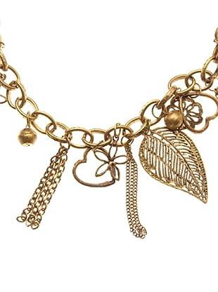 Sigris Collar Hoja Y Corazón (Dorado Viejo)