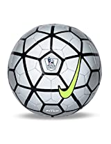 Nike EPL Pitch Football, Size 5 (Silver/Black)