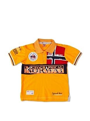 Geographical Norway Polo Manga Corta Kyer (Naranja)