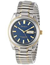 Armitron Men's 201501BLU Two-Tone Expansion Band and Blue Dial Dress Watch