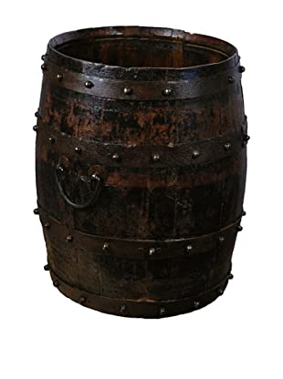 Antique Revival Wooden Barrel (Dark Wood)