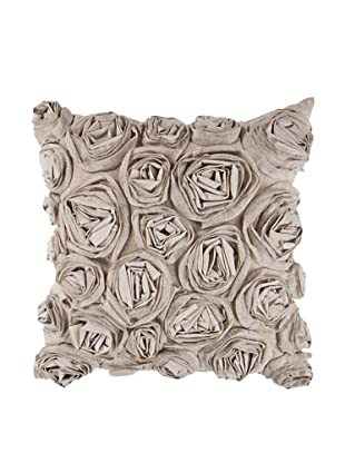 Surya Rosette Throw Pillow, Coriander