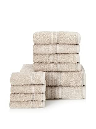 Chortex 10-Piece Imperial Bath Towel Set, Stone