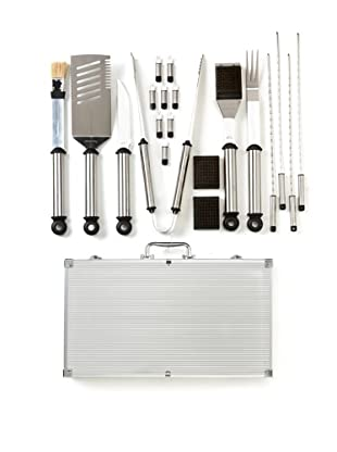 Picnic at Ascot 20-Piece BBQ Master Grill Tool Set, Chrome/Steel