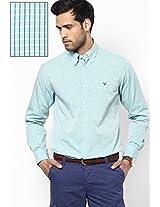 Green Checked Casual Shirt Allen Solly