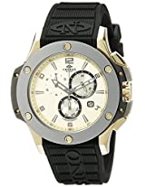 Oniss Paris Men's ON612N-RB/GLD/BLK BOLD COLLECTION Analog Display Swiss Quartz Black Watch