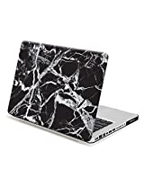 MacBook Pro 15 Case, GMYLE Hard Case Print Glossy for MacBook Pro 15 - Black Marble Pattern Glossy Hard Shell Case Cover (Not fit for MacBook Pro 15 Retina)
