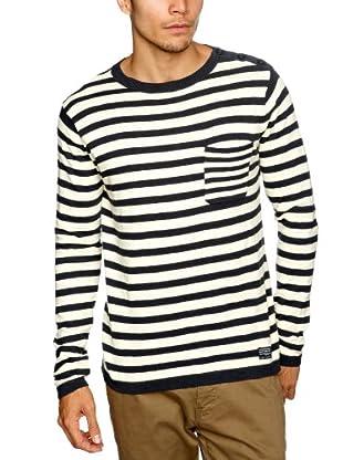 Cottonfield Sweatshirt (blau/creme)
