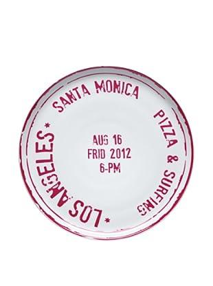 Bitossi Home Plato Pizza Los Ángeles Rosa