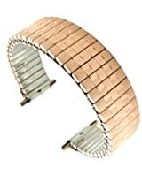 16-22mm HR Rose Gold GP Stainless Classic Straight End Stretchy Watch Band