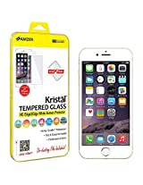 Amzer Kristal Edge2Edge Tempered Glass HD White Screen Protector Shield for Apple iPhone 6 Plus, iPhone 6s Plus