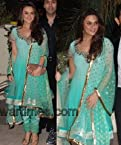 Preity Zinta Sky Blue Georgette Anarkali Suit - BWDF-02