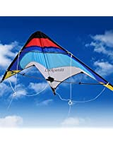 """Ready to Fly Hot 53"""" Inch Stunt Kite Fun to Fly Wing span (Including two handles and line)"""
