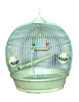 pet Club51 HIGH QUALITY PET BIRD CAGE AND PARROT CAGE - WHITE