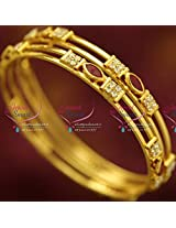 ze B0722 Gold Plated Bangles Daily Wear 4 Pieces Set