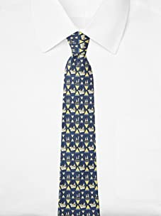 Hermès Men's Sailboats Tie, Blue/Yellow, One Size