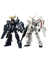 Mobile Suit Gundam Unicorn - ASSAULT KINGDOM EX 10 Unicorn Gundam & Banshee Action Model Figure (CANDY TOY Tentative... (Gundam)