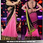 Bollywood Pink & Black Net Zari Resham Work Lehnga