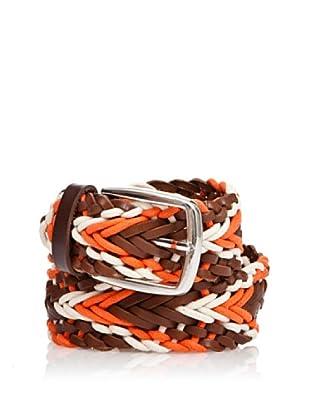 Cortefiel Gürtel geflochten (Orange)