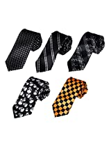 DANF0027 Marriage Slim Ties Stain Skinny Boys Ties Set World Wide - 5 Styles Available By Dan Smith