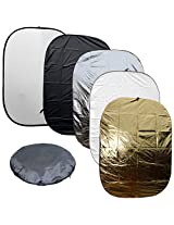 "BlueDot Trading 150-200cm-5in1-reflector 5 in 1 Photo Photographic Reflector Set, 60"" by 79"""