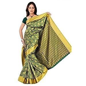 Varkala GS4115PG Green Kanchipuram Silk Saree