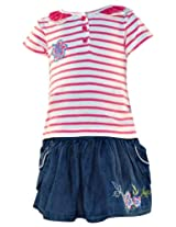 Nauti Nati - Stripes Printed Skirt Top Set