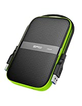 Silicon Power 500GB Rugged Armor USB 3.0 Portable External Hard Drive (Black)